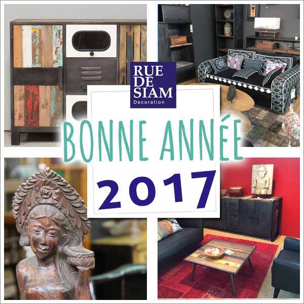 Toute l'équipe de Rue de Siam vous remercie de votre confiance et vous souhaite de passer de très bonnes fêtes de fin d'année. Nous vous souhaitons une merveilleuse année 2017 pleine de projets de décorations.